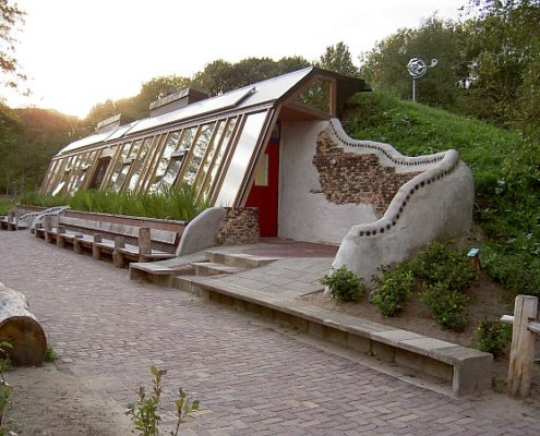 Earthship Built Into Hillside